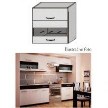 Felső szekrény, fehér/wenge, JURA NEW B OGW1-80