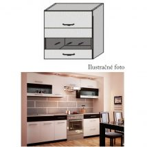 Felső szekrény, fehér/venge, JURA NEW B OGW1-80