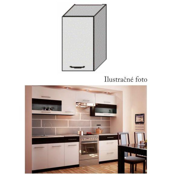 Felső szekrény, fehér/wenge, JURA NEW B G-40