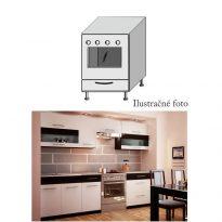 Alsó szekrény sütőhöz, fehér/wenge, JURA NEW B ZK-60 K1
