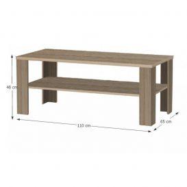 Dohányzóasztal, trufla sonoma tölgy, INTERSYS 22
