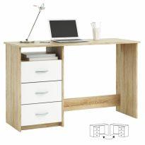 Számítógépasztal, sonoma tölgyfa/fehér, LARISTOTE