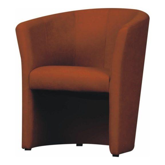 Klub fotel, barna textilbőr, CUBA