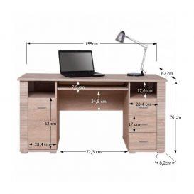 Számítógépasztal TYP 22, tölgyfa sonoma, GRAND