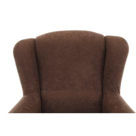 Füles fotel, barna szövet, CHARLOT