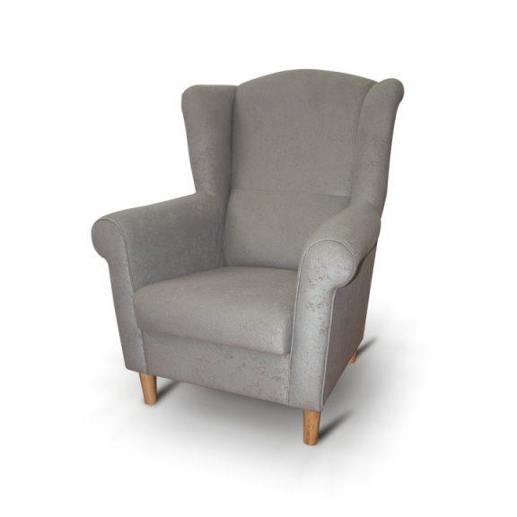 Füles fotel, szürke, CHARLOT
