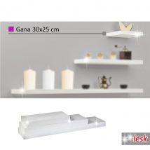 Polcok, fehér/fényesség, 30x25, GANA