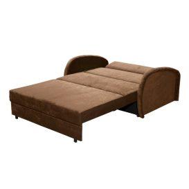 Széthúzható fotel, barna, MILI 2