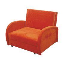 Fotel ágyfunkcióval és ágyneműtartóval, narancssárga, MILI 1