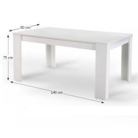 TOMY Étkezőasztal 140 FEHÉR