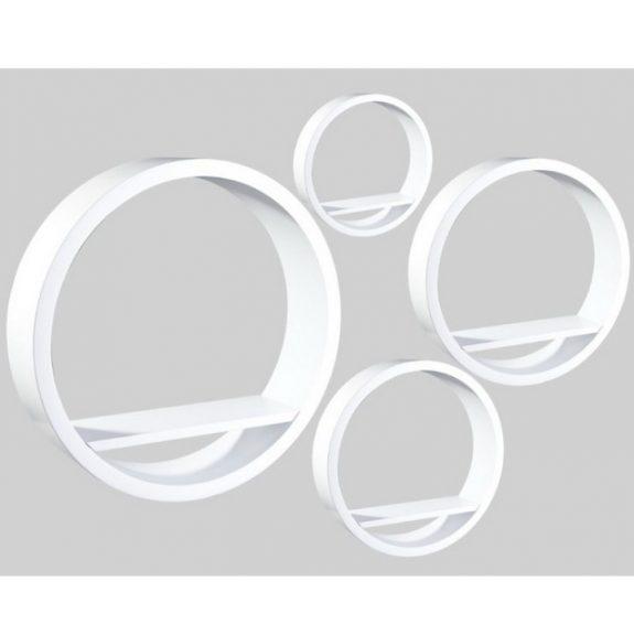 Polc készlet, fehér, 4 db, EMA FY 8211