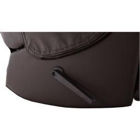 Mechanikusan állítható pihenőfotel, sötétbarna textilbőr PU, ROMELO C3