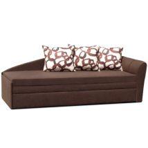 Széthúzható kanapé, barna, balra, LAOS