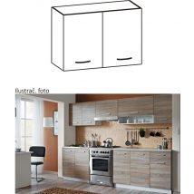 Felső szekrény, sonoma tölgyfa/fehér, CYRA NEW G 80