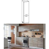 Konyhai magas szekrény, tölgyfa sonoma / fehér, CYRA NEW S-50 - Kiárusítás