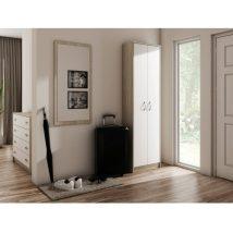 Polcos szekrény, sonoma tölgyfa/fehér, VIRA-MECKI