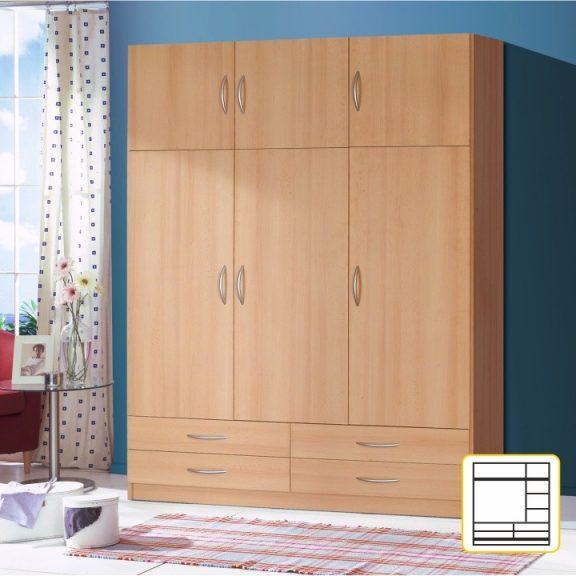 Kombinált szekrény, bükkfa, GERI