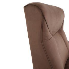 Mechanikusan állítható pihenőfotel, barna textil, SUAREZ