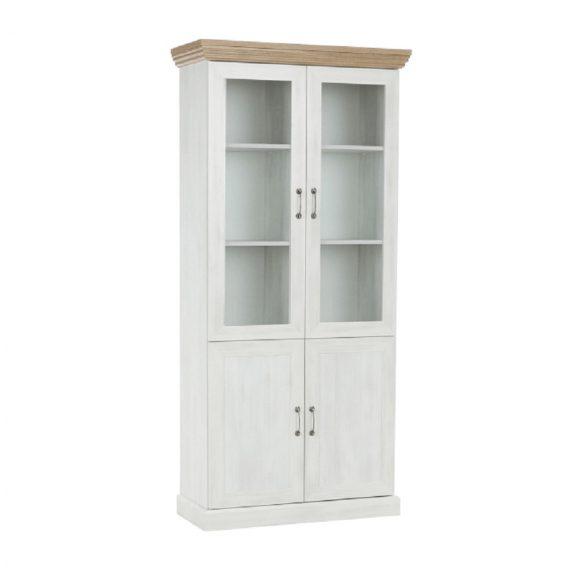 vitrines szekrény, északi sosna/vadtölgy, ROYAL W4D