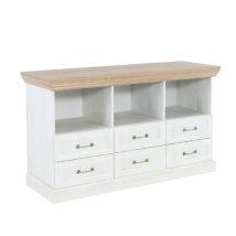 TV asztal/szekrény, északi erdei fenyő/tölgyfa, ROYAL RS