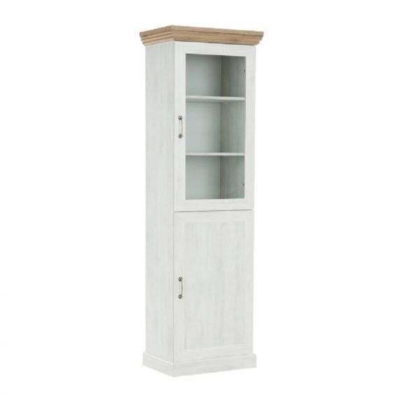 vitrines szekrény, északi sosna/vadtölgy, ROYAL W1D
