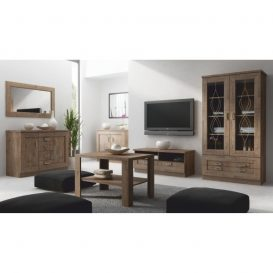 TV asztal/szekrényke, tölgyfa lefkas, TEDY  TYP T11