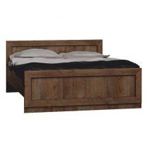 Ágy ráccsal, TYP T20  ágy 160x200 cm, tölgyfa lefkas, TEDY T20 TYP