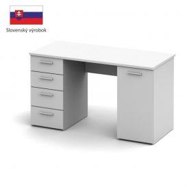 Íróasztal, fehér, EUSTACH