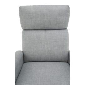 Állítható fotel, szürke szövet, FOREST