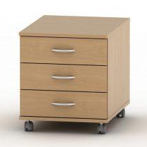 3 fiókos kerekes szekrény, bükkfa, TEMPO ASISTENT NEW 016