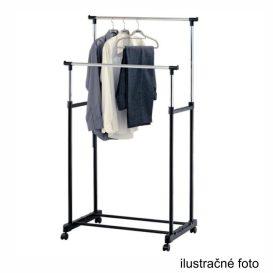 Görgős ruhaálvány, rozsdamentes fém/fekte műanyag, HILAR