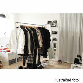 Görgős ruhaálvány, rozsdamentes fém+fekte műanyag, OLIVER