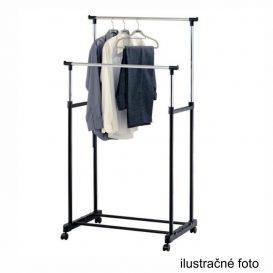 Görgős ruhaálvány, rozsdamentes fém+fekte műanyag, ALEXO - KIÁRUSÍTÁS