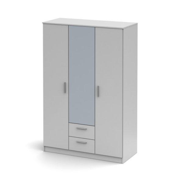 NOKO-SINGA 82 Gardrób 3 ajtós tükrös Fehér