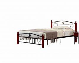 Fém ágy ágyráccsal, 140x200, MAGENTA