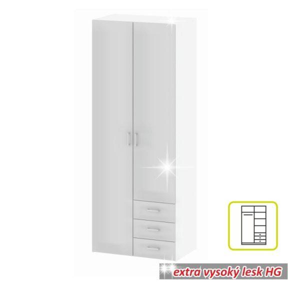 GWEN Gardrób 2 ajtós Fehér HG
