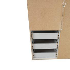 GWEN Gardrób 3 ajtós Sonoma