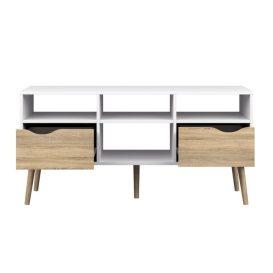 TV asztal/szekrény, tölgy sonoma / fehér, OSLO 75391