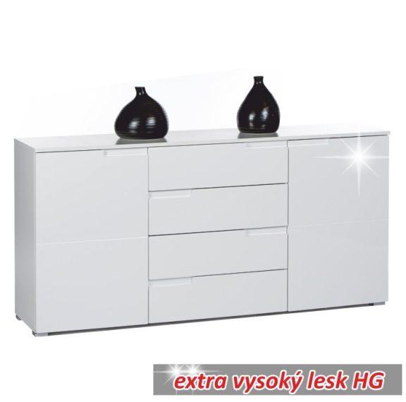 Komód 4 - fiókos, fehér, SPICE 3