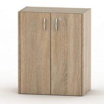 Alacsony szekrény lakattal, tölgy sonoma, TEMPO ASISTENT NEW 011
