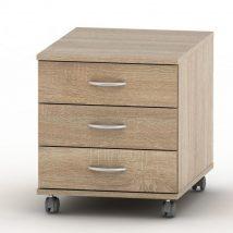 3 fiókos kerekes szekrény, sonoma tölgyfa, TEMPO ASISTENT NEW 016
