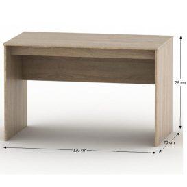 Íróasztal, tölgy sonoma, TEMPO ASISTENT NEW 021 PI