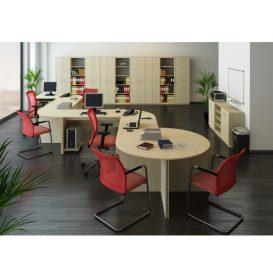 Tárgyalóasztal, tölgy sonoma, TEMPO ASISTENT NEW 021 ZA
