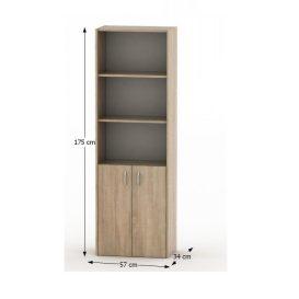 Irodai szekrény zárral, tölgy sonoma, TEMPO ASISTENT NEW 002