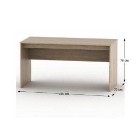íróasztal, tölgy sonoma, TEMPO ASISTENT NEW 020 PI