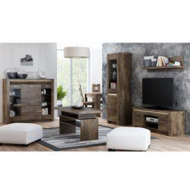 RTV asztal/szekrény, kőris sötét, INFINITY 09