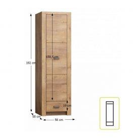 Szekrény, kőris világos, INFINITY I-02