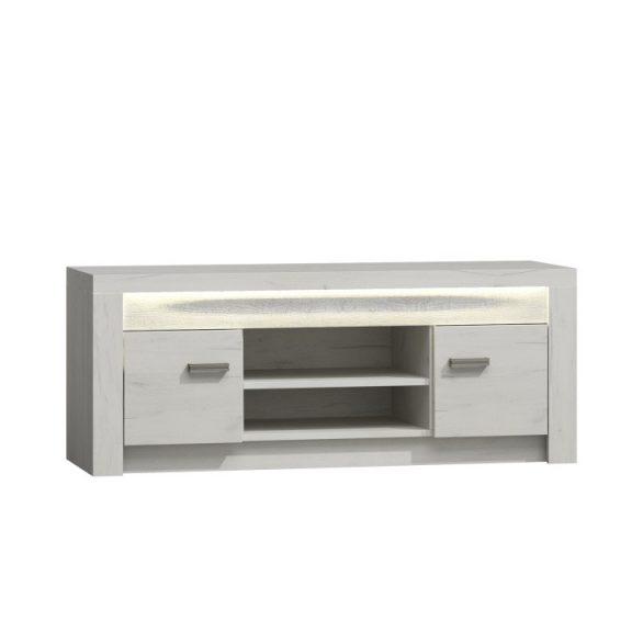 RTV asztal/szekrény, kőris fehér, INFINITY I-09