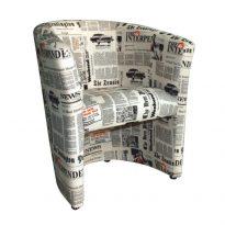 Fotel, szövet újságminta, CUBA