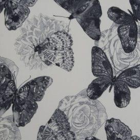 Füles fotel puffal, szövet butterfly 1, ASTRID